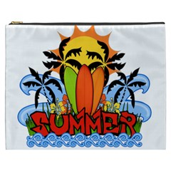 Tropical Summer Cosmetic Bag (xxxl)  by Valentinaart