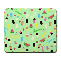 Summer Pattern Large Mousepads by Valentinaart