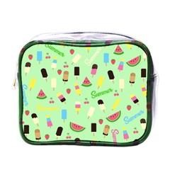 Summer Pattern Mini Toiletries Bags by Valentinaart