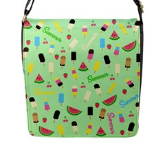 Summer Pattern Flap Messenger Bag (l)  by Valentinaart