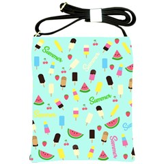 Summer Pattern Shoulder Sling Bags by Valentinaart