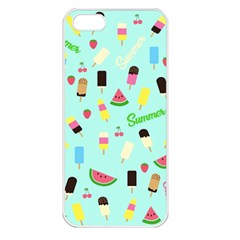 Summer Pattern Apple Iphone 5 Seamless Case (white) by Valentinaart