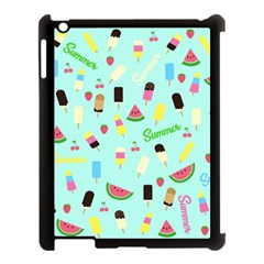 Summer Pattern Apple Ipad 3/4 Case (black) by Valentinaart