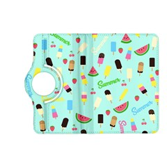 Summer Pattern Kindle Fire Hd (2013) Flip 360 Case by Valentinaart