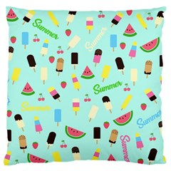 Summer Pattern Large Flano Cushion Case (two Sides) by Valentinaart