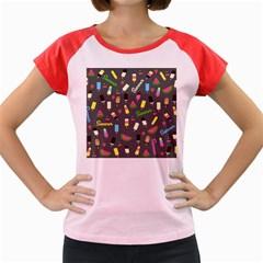 Summer Pattern Women s Cap Sleeve T Shirt by Valentinaart