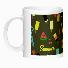 Summer Pattern Night Luminous Mugs by Valentinaart