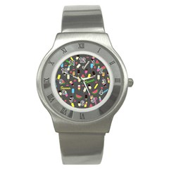 Summer Pattern Stainless Steel Watch by Valentinaart
