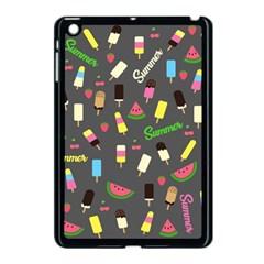 Summer Pattern Apple Ipad Mini Case (black) by Valentinaart