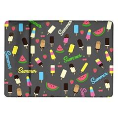 Summer Pattern Samsung Galaxy Tab 10 1  P7500 Flip Case by Valentinaart