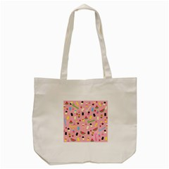 Summer Pattern Tote Bag (cream) by Valentinaart
