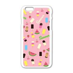 Summer Pattern Apple Iphone 6/6s White Enamel Case by Valentinaart