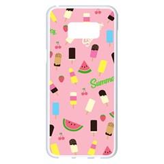 Summer Pattern Samsung Galaxy S8 Plus White Seamless Case by Valentinaart