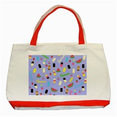 Summer Pattern Classic Tote Bag (red) by Valentinaart