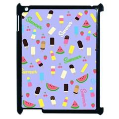 Summer Pattern Apple Ipad 2 Case (black) by Valentinaart