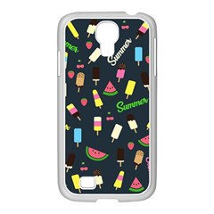 Summer Pattern Samsung Galaxy S4 I9500/ I9505 Case (white) by Valentinaart