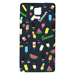 Summer Pattern Galaxy Note 4 Back Case by Valentinaart