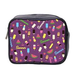 Summer Pattern Mini Toiletries Bag 2 Side by Valentinaart