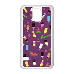 Summer Pattern Samsung Galaxy S5 Case (white) by Valentinaart