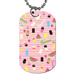 Summer Pattern Dog Tag (two Sides) by Valentinaart
