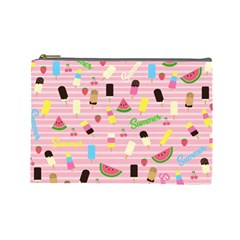 Summer Pattern Cosmetic Bag (large)  by Valentinaart