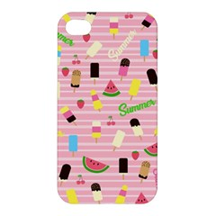Summer Pattern Apple Iphone 4/4s Premium Hardshell Case by Valentinaart