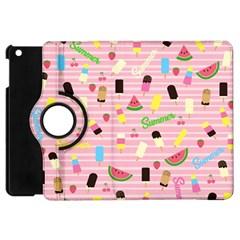 Summer Pattern Apple Ipad Mini Flip 360 Case by Valentinaart