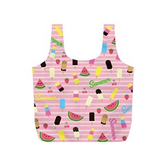 Summer Pattern Full Print Recycle Bags (s)  by Valentinaart