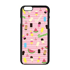 Summer Pattern Apple Iphone 6/6s Black Enamel Case by Valentinaart