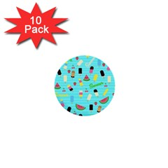 Summer Pattern 1  Mini Buttons (10 Pack)  by Valentinaart