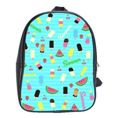 Summer Pattern School Bags(large)  by Valentinaart