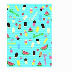 Summer Pattern Large Garden Flag (two Sides) by Valentinaart
