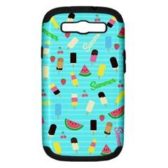 Summer Pattern Samsung Galaxy S Iii Hardshell Case (pc+silicone) by Valentinaart