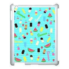 Summer Pattern Apple Ipad 3/4 Case (white) by Valentinaart