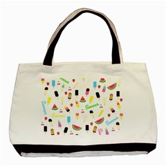 Summer Pattern Basic Tote Bag (two Sides) by Valentinaart