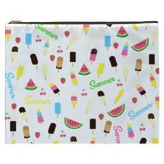Summer Pattern Cosmetic Bag (xxxl)  by Valentinaart