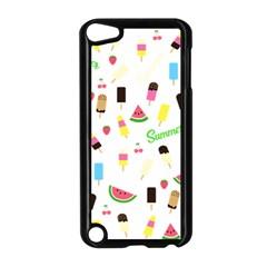 Summer Pattern Apple Ipod Touch 5 Case (black) by Valentinaart