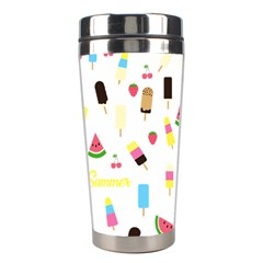 Summer Pattern Stainless Steel Travel Tumblers by Valentinaart