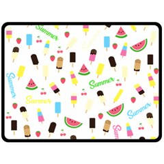 Summer Pattern Double Sided Fleece Blanket (large)  by Valentinaart