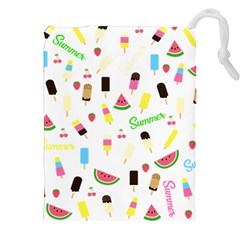 Summer Pattern Drawstring Pouches (xxl) by Valentinaart