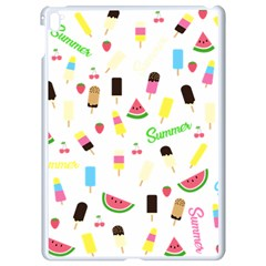 Summer Pattern Apple Ipad Pro 9 7   White Seamless Case by Valentinaart