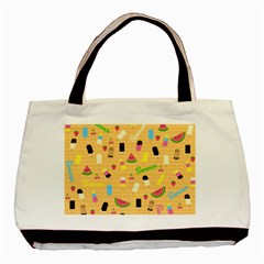 Summer Pattern Basic Tote Bag by Valentinaart