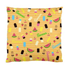 Summer Pattern Standard Cushion Case (one Side) by Valentinaart
