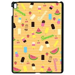 Summer Pattern Apple Ipad Pro 9 7   Black Seamless Case by Valentinaart