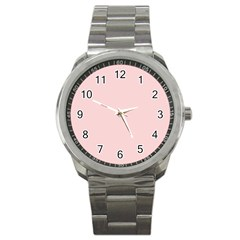 Blush Pink Sport Metal Watch by SimplyColor