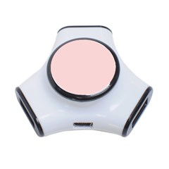 Blush Pink 3 Port Usb Hub by SimplyColor