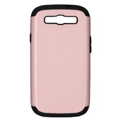 Blush Pink Samsung Galaxy S Iii Hardshell Case (pc+silicone) by SimplyColor