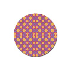 Colorful Geometric Polka Print Magnet 3  (round) by dflcprints