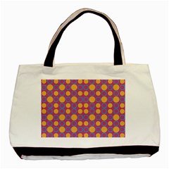 Colorful Geometric Polka Print Basic Tote Bag by dflcprints