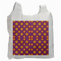 Colorful Geometric Polka Print Recycle Bag (two Side)  by dflcprints